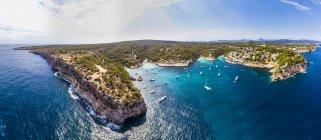 Spagna, Maiorca, Palma di Maiorca, Veduta aerea della regione di Calvia, El Toro, Portals Vells — Foto stock