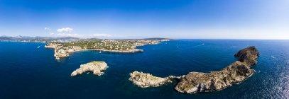 Spagna, Baleari, Maiorca, Regione Calvia, Veduta aerea delle isole Malgrats e Santa Ponca — Foto stock