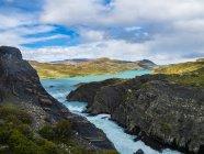 Amérique du Sud, Chili, Patagonie, Vue sur Rio Paine, Parc national de Torres del Paine — Photo de stock