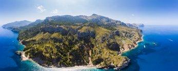 Spagna, Baleari, Maiorca, Regione Andratx, Costa occidentale, Serra de Tramuntana, Mirador de Ricardo Roca — Foto stock
