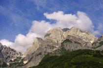 Albanien, shkoder county, albanischen Alpen, theth Nationalpark, theth, Berge im Abendlicht — Stockfoto