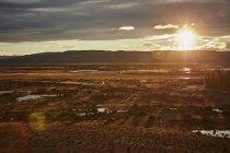 Argentine, Rio Chico, steppe de Patagonie au coucher du soleil — Photo de stock