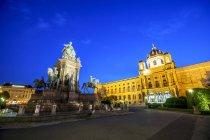 Autriche, Vienne, Maria-Theresien-Platz, Musée d'histoire de l'art et Musée d'histoire naturelle — Photo de stock