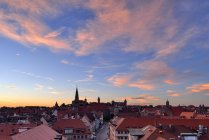 Skyline of Nuremberg at sunset, Bavaria, Middle Franconia, Germany — Stock Photo