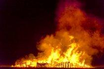 Gran Bretaña, Escocia, East Lothian, Aberlady, Bonfire - foto de stock