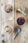 Different varieties of ice cream made of frozen bananas — Stock Photo