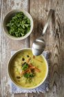 Asian soup with pointed cabbage — Stock Photo
