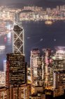 Hong Kong, Causeway Bay, paesaggio urbano di notte — Foto stock