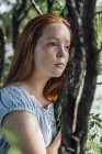 Portrait of redheaded girl — Stock Photo
