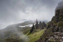 UK, Scotland, Inner Hebrides, Isle of Skye, Trotternish, Old Man of Storr — Stock Photo