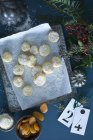 Christmas Cookies with apricots sprinkled with coconut flakes — Foto stock