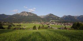 Allemagne, Bavière, Souabe, Alpes d'Allgaeu, vue panoramique d'Oberstdorf — Photo de stock