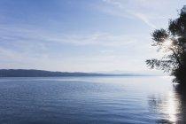 Suisse, canton de Zurich, lac de Zurich, région Richterswil, vue vers Raperswil — Photo de stock