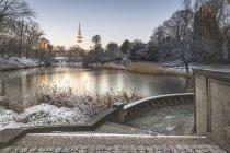 Allemagne, Hambourg, parc Planten un Blomen par un matin d'hiver — Photo de stock