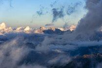 Italy, Veneto, Dolomites, Alta Via Bepi Zac, Sunset on Marmolada — Stock Photo