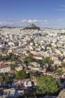 Greece, Athens, view on the city and Mount Lycabettus — стоковое фото
