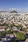 Griechenland, Athen, Blick auf die Stadt und den Berg Lykabettus — Stockfoto