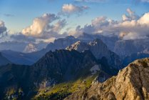 Italy, Veneto, Dolomites, Alta Via Bepi Zac, Sunset — Stock Photo