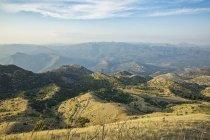 Greece, Peloponnese, Arcadia, Lykaion, view from mountain Profitis Ilias — Stock Photo