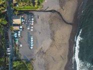 Indonesia, Bali, Veduta aerea della spiaggia di Batu Bolong — Foto stock