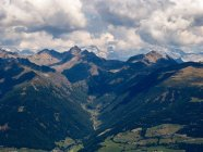 Italy, Trentino, South Tirol, Pustertal, view of Austrian Alps from the summit of mount Astjoch — Stock Photo