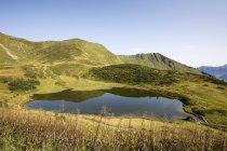 Germania, Baviera, Allgaeu, Alpi Allgaeu, Fellhorn, Lago di Schlappoltsee — Foto stock