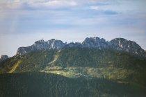 Alemania, Baviera, Alpes de Chiemgau, Vista aérea de Kampenwand - foto de stock