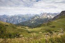 Germania, Baviera, Allgaeu, Alpi di Allgaeu, Vista dalla stazione a monte Kanzelwand — Foto stock