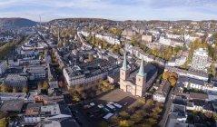 Deutschland, wuppertal, elberfeld, luftbild laurentiusplatz — Stockfoto