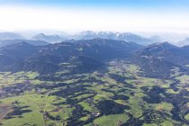 Germany, Bavaria, Chiemgau, Aerial view of Alps — Stock Photo