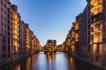 Germania, Amburgo, Old Warehouse District e Wasserschloss — Foto stock