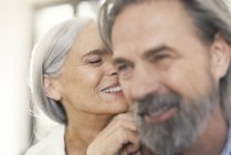 Portrait of an affectionate senior couple — Stock Photo