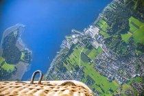 Allemagne, Bavière, Chiemgau, Vue aérienne du lac Chiemsee, Prien, vue de ballon d'air — Photo de stock