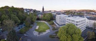 Alemanha, Wuppertal, Eberfeld, vista aérea de Deweerthscher Garten — Fotografia de Stock