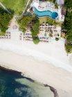 Indonesia, Bali, Nusa Dua, Aerial view of resort beach — Stock Photo