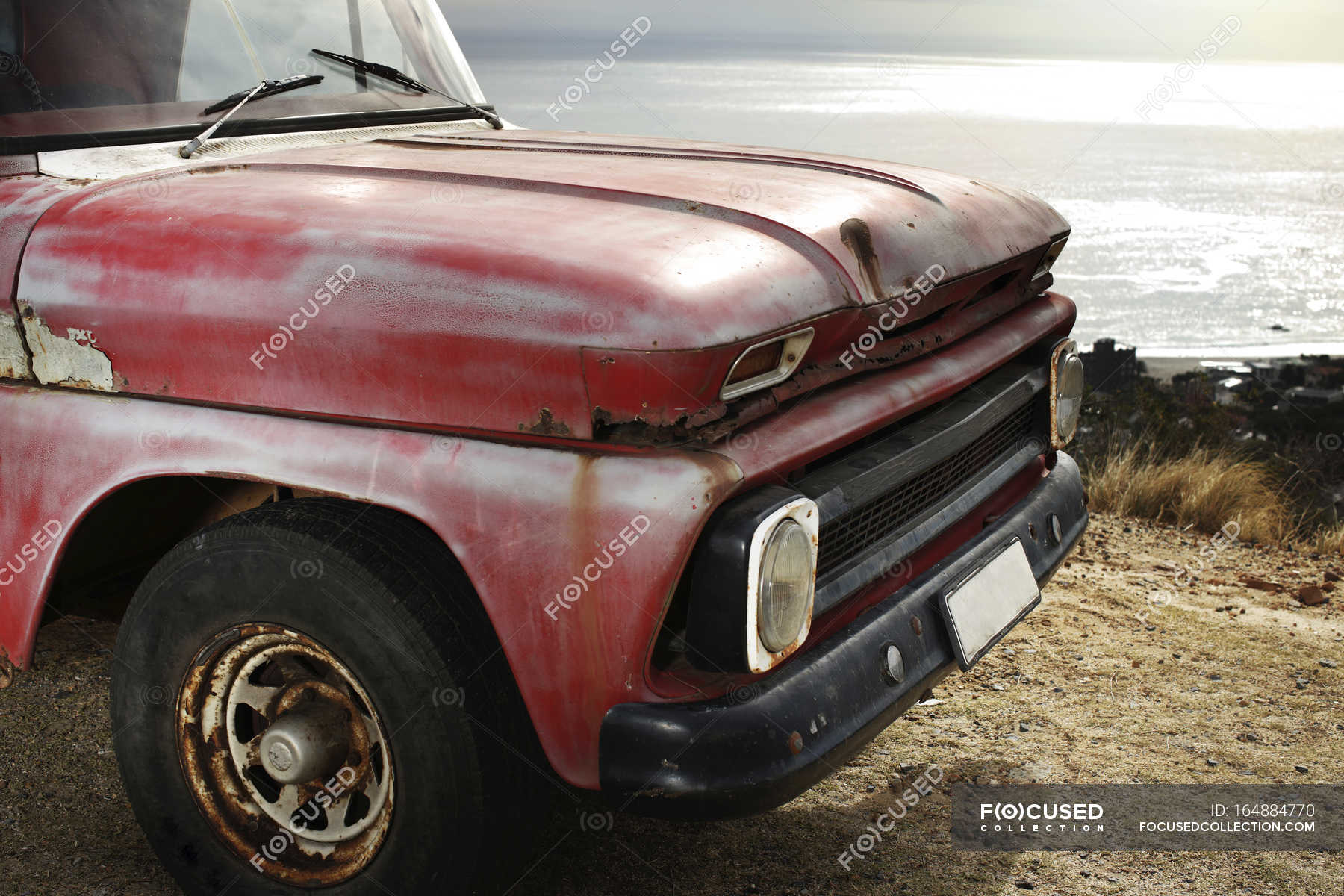 Old pick up truck at the coast — Stock Photo | #164884770