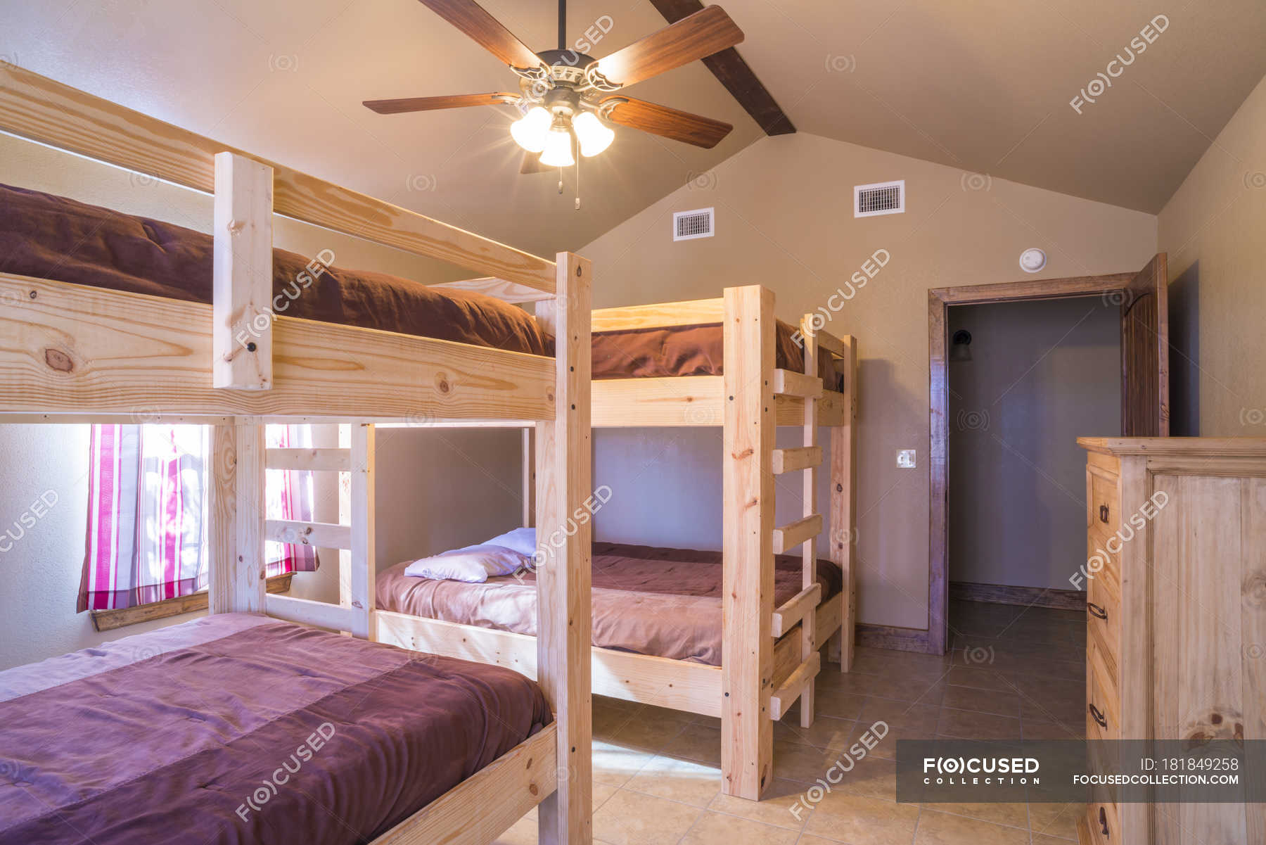 Picture of: Bedroom Interior With Double Bunk Beds Holiday Home House Stock Photo 181849258