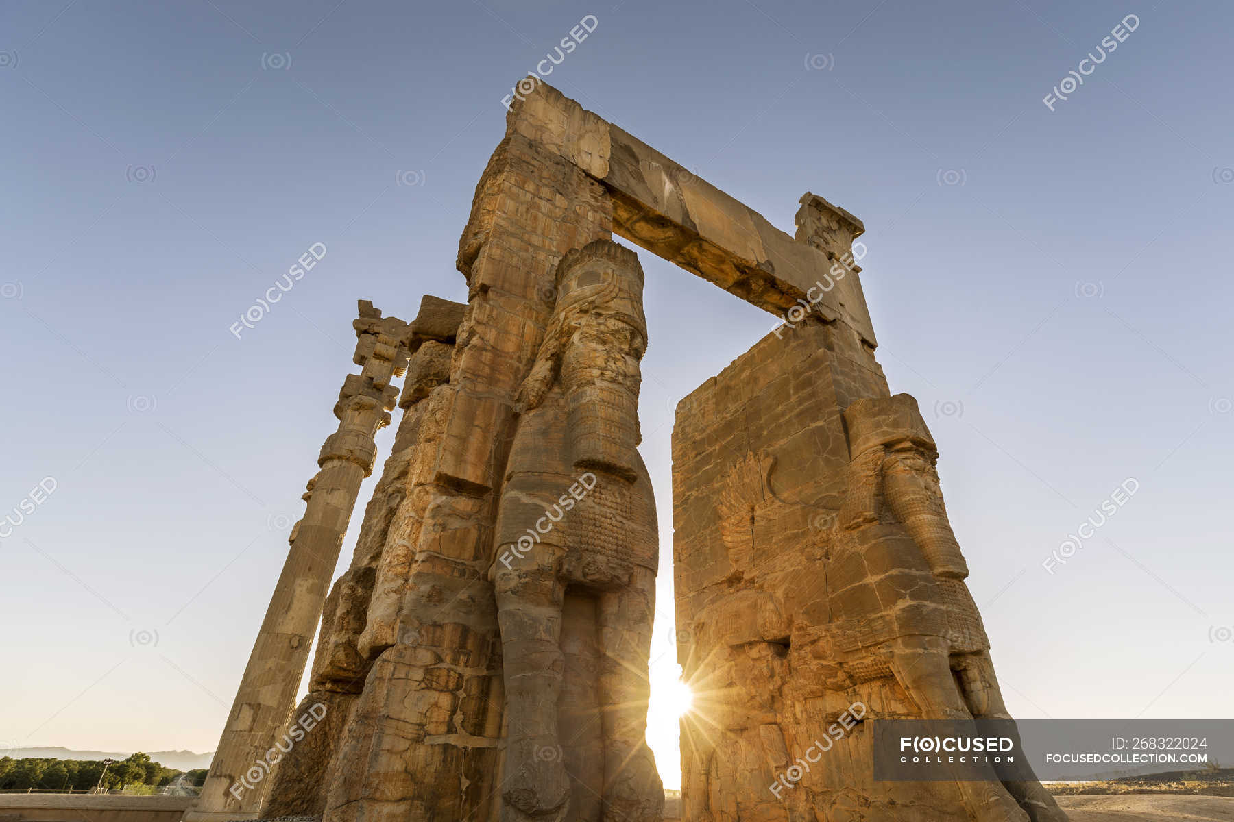 Iran Shiraz Province Persepolis Gate Of All Nations Historical Color Image Stock Photo 268322024