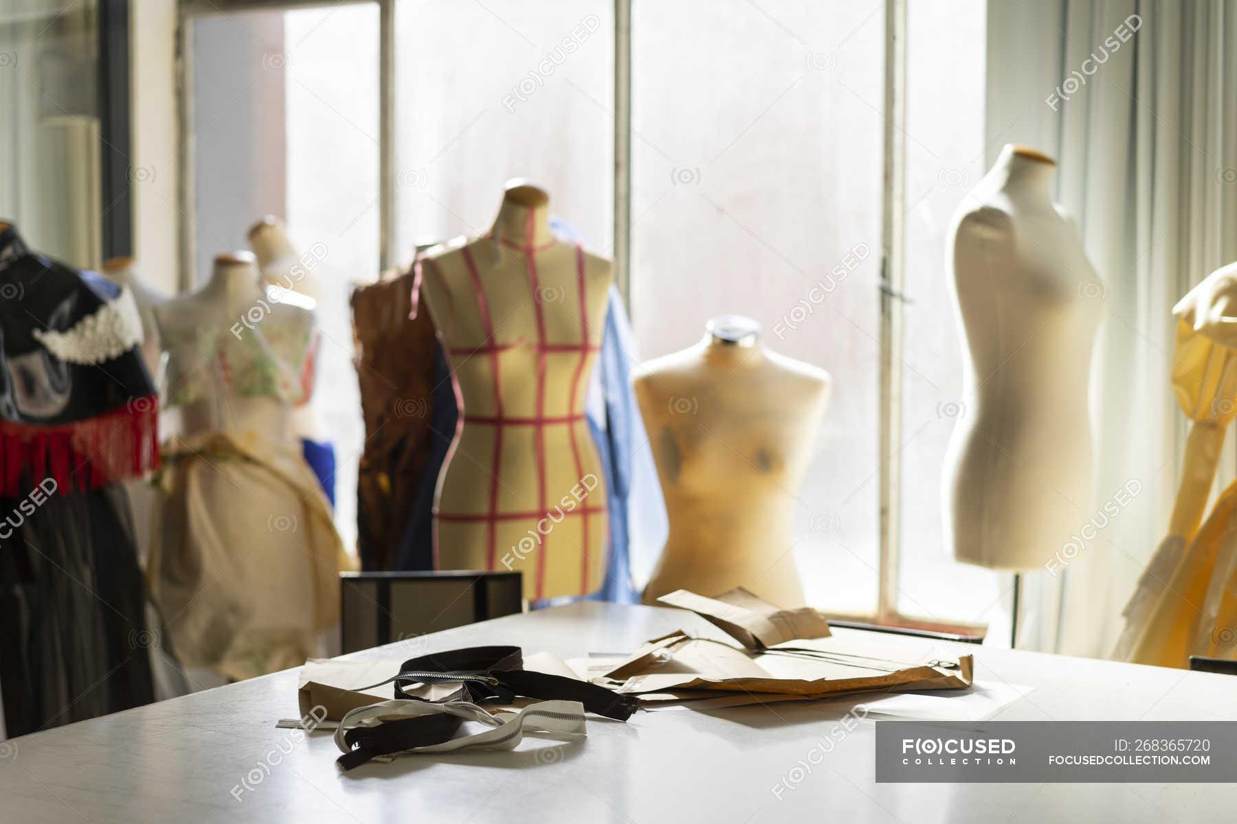 Dressmaker S Models In Fashion Designer S Studio Color Image Textile Stock Photo 268365720