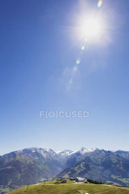 Mountain panorama from Schmittenhoehe — Stock Photo