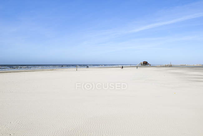 Plage de sable à St Peter-Ording — Photo de stock