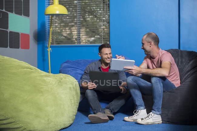 Informal meeting in office — Stock Photo