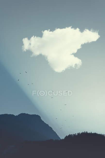 Mountains at sunrise, Italy — Stock Photo