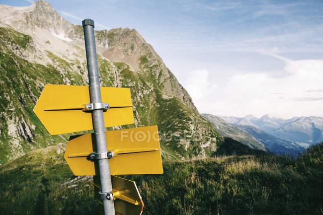 Sign post, Svizzera — Foto stock