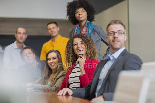 Business meeting with employees — Stock Photo