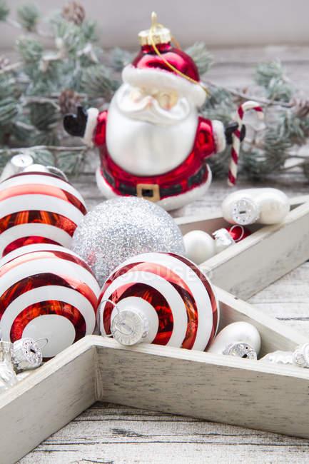 Natal bugigangas e decoração — Fotografia de Stock