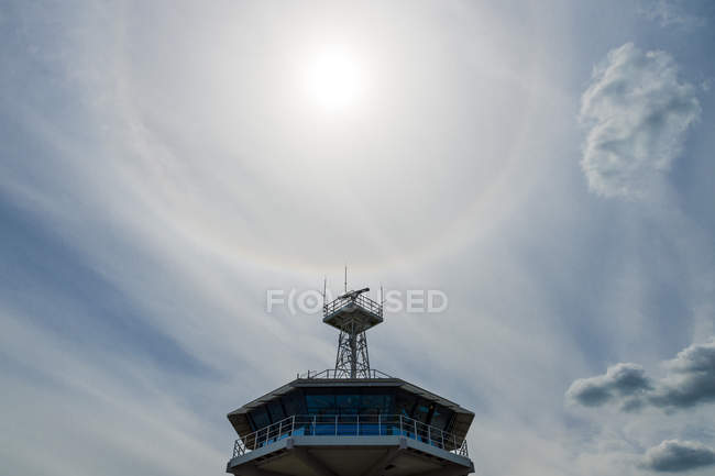 Pilot tower in backlight — Stock Photo