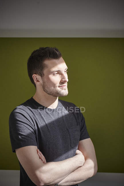 Man thinking in office — Stock Photo