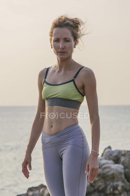 Woman wearing fitness clothing — Stock Photo