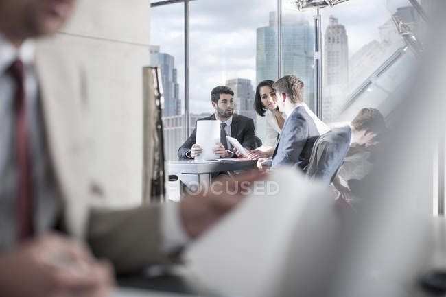 Businesspeople in meeting in conference room — Stock Photo
